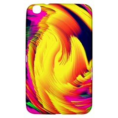 Stormy Yellow Wave Abstract Paintwork Samsung Galaxy Tab 3 (8 ) T3100 Hardshell Case