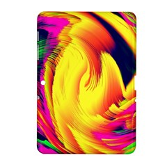 Stormy Yellow Wave Abstract Paintwork Samsung Galaxy Tab 2 (10.1 ) P5100 Hardshell Case