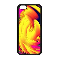 Stormy Yellow Wave Abstract Paintwork Apple iPhone 5C Seamless Case (Black)