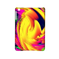 Stormy Yellow Wave Abstract Paintwork iPad Mini 2 Hardshell Cases