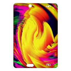 Stormy Yellow Wave Abstract Paintwork Amazon Kindle Fire HD (2013) Hardshell Case