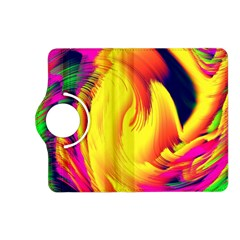 Stormy Yellow Wave Abstract Paintwork Kindle Fire HD (2013) Flip 360 Case