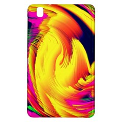 Stormy Yellow Wave Abstract Paintwork Samsung Galaxy Tab Pro 8.4 Hardshell Case