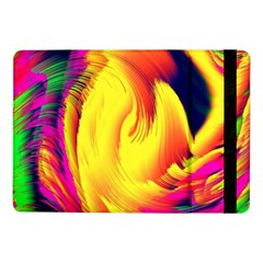 Stormy Yellow Wave Abstract Paintwork Samsung Galaxy Tab Pro 10.1  Flip Case