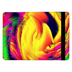 Stormy Yellow Wave Abstract Paintwork Samsung Galaxy Tab Pro 12.2  Flip Case