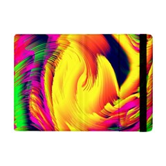 Stormy Yellow Wave Abstract Paintwork iPad Mini 2 Flip Cases