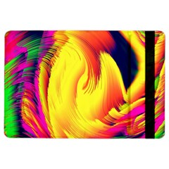 Stormy Yellow Wave Abstract Paintwork iPad Air 2 Flip