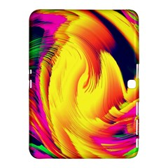 Stormy Yellow Wave Abstract Paintwork Samsung Galaxy Tab 4 (10.1 ) Hardshell Case
