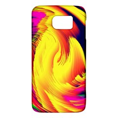 Stormy Yellow Wave Abstract Paintwork Galaxy S6