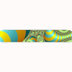 Gold Blue Fractal Worms Background Small Bar Mats