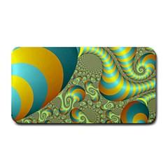 Gold Blue Fractal Worms Background Medium Bar Mats