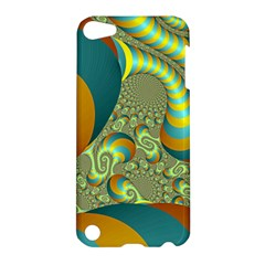 Gold Blue Fractal Worms Background Apple iPod Touch 5 Hardshell Case