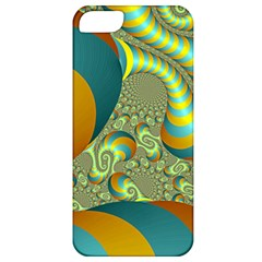 Gold Blue Fractal Worms Background Apple iPhone 5 Classic Hardshell Case