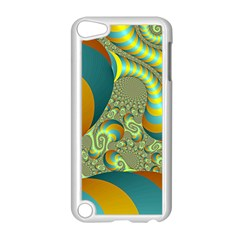 Gold Blue Fractal Worms Background Apple Ipod Touch 5 Case (white)