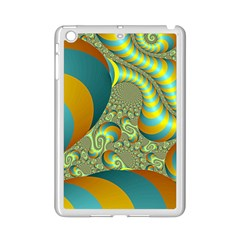 Gold Blue Fractal Worms Background iPad Mini 2 Enamel Coated Cases
