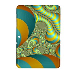 Gold Blue Fractal Worms Background Samsung Galaxy Tab 2 (10.1 ) P5100 Hardshell Case