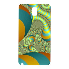 Gold Blue Fractal Worms Background Samsung Galaxy Note 3 N9005 Hardshell Back Case