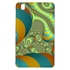 Gold Blue Fractal Worms Background Samsung Galaxy Tab Pro 8.4 Hardshell Case