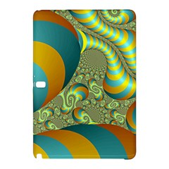Gold Blue Fractal Worms Background Samsung Galaxy Tab Pro 12.2 Hardshell Case