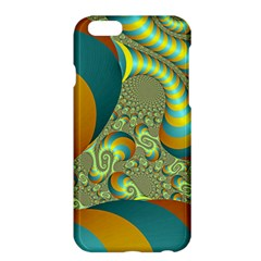 Gold Blue Fractal Worms Background Apple iPhone 6 Plus/6S Plus Hardshell Case