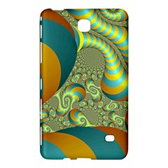Gold Blue Fractal Worms Background Samsung Galaxy Tab 4 (8 ) Hardshell Case