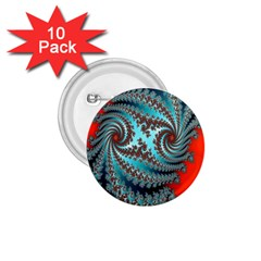 Digital Fractal Pattern 1.75  Buttons (10 pack)