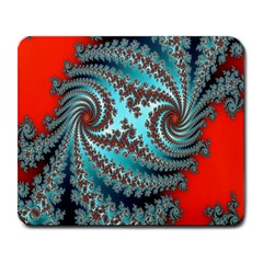Digital Fractal Pattern Large Mousepads