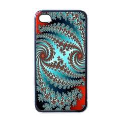Digital Fractal Pattern Apple Iphone 4 Case (black)