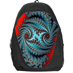 Digital Fractal Pattern Backpack Bag