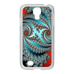 Digital Fractal Pattern Samsung Galaxy S4 I9500/ I9505 Case (white)