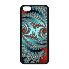 Digital Fractal Pattern Apple Iphone 5c Seamless Case (black)