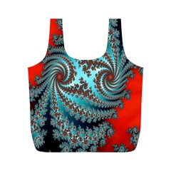 Digital Fractal Pattern Full Print Recycle Bags (m)
