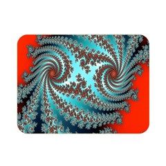 Digital Fractal Pattern Double Sided Flano Blanket (mini)
