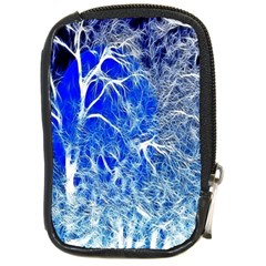 Winter Blue Moon Fractal Forest Background Compact Camera Cases