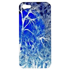 Winter Blue Moon Fractal Forest Background Apple iPhone 5 Hardshell Case