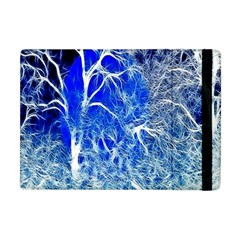 Winter Blue Moon Fractal Forest Background Apple iPad Mini Flip Case
