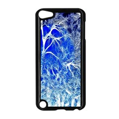 Winter Blue Moon Fractal Forest Background Apple iPod Touch 5 Case (Black)