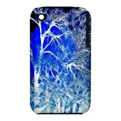 Winter Blue Moon Fractal Forest Background Iphone 3s/3gs