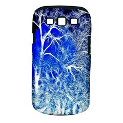 Winter Blue Moon Fractal Forest Background Samsung Galaxy S III Classic Hardshell Case (PC+Silicone)