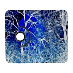 Winter Blue Moon Fractal Forest Background Galaxy S3 (Flip/Folio)