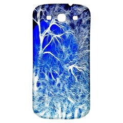 Winter Blue Moon Fractal Forest Background Samsung Galaxy S3 S Iii Classic Hardshell Back Case