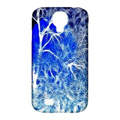 Winter Blue Moon Fractal Forest Background Samsung Galaxy S4 Classic Hardshell Case (PC+Silicone)