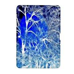Winter Blue Moon Fractal Forest Background Samsung Galaxy Tab 2 (10.1 ) P5100 Hardshell Case