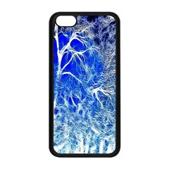 Winter Blue Moon Fractal Forest Background Apple iPhone 5C Seamless Case (Black)