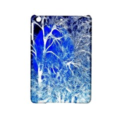 Winter Blue Moon Fractal Forest Background iPad Mini 2 Hardshell Cases