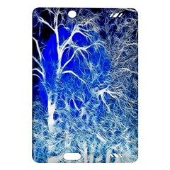 Winter Blue Moon Fractal Forest Background Amazon Kindle Fire HD (2013) Hardshell Case