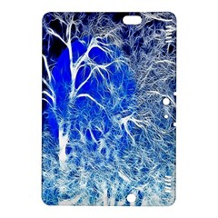 Winter Blue Moon Fractal Forest Background Kindle Fire HDX 8.9  Hardshell Case