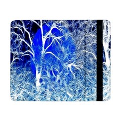 Winter Blue Moon Fractal Forest Background Samsung Galaxy Tab Pro 8.4  Flip Case