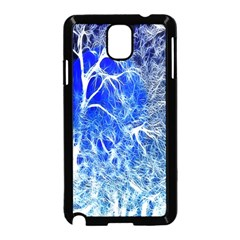 Winter Blue Moon Fractal Forest Background Samsung Galaxy Note 3 Neo Hardshell Case (Black)