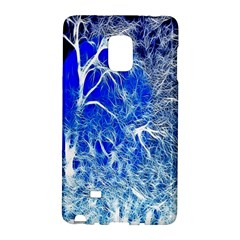 Winter Blue Moon Fractal Forest Background Galaxy Note Edge